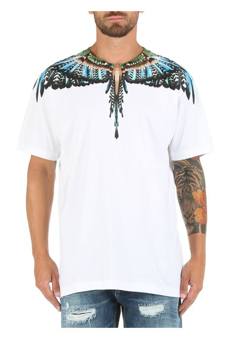 COTTON T-SHIRT WITH WINGS PRINT MARCELO BURLON |  | CMAA018F21JER0030140