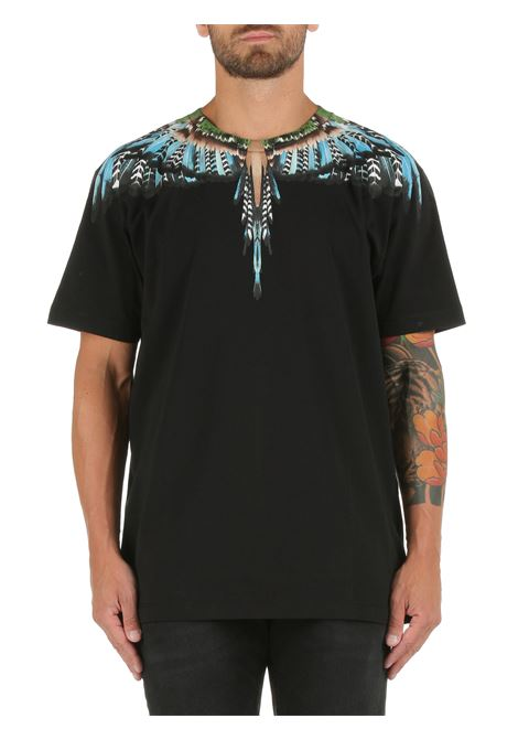COTTON T-SHIRT WITH WINGS PRINT MARCELO BURLON |  | CMAA018F21JER0031040