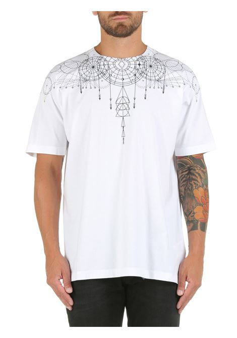 ASTRAL WINGS WHITE COTTON T-SHIRT MARCELO BURLON |  | CMAA018F21JER0060110