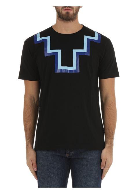 T-SHIRT CROSS IN COTONE NERA MARCELO BURLON | T-shirt | CMAA075F21JER0011045