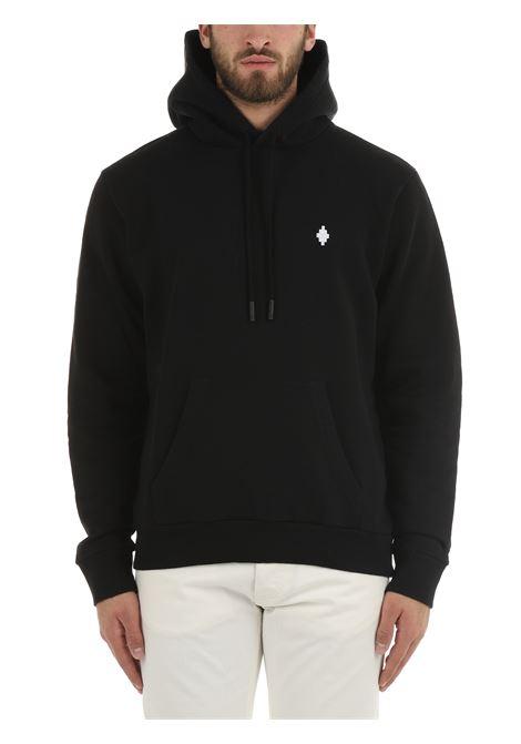 BLACK SWEATSHIRT WITH CROSS REGULAR HOODIE MARCELO BURLON | Sweatshirt | CMBB007F21FLE0061001