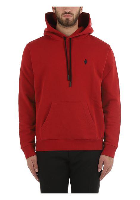 RED SWEATSHIRT WITH CROSS REGULAR HOODIE MARCELO BURLON | Sweatshirt | CMBB007F21FLE0062710