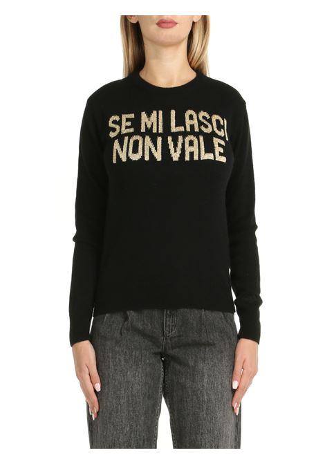 BLACK IF YOU LEAVE ME NOT WORTH SWEATER MC2SAINTBARTH | Shirts | NEWQUEENNONVALEORNERO