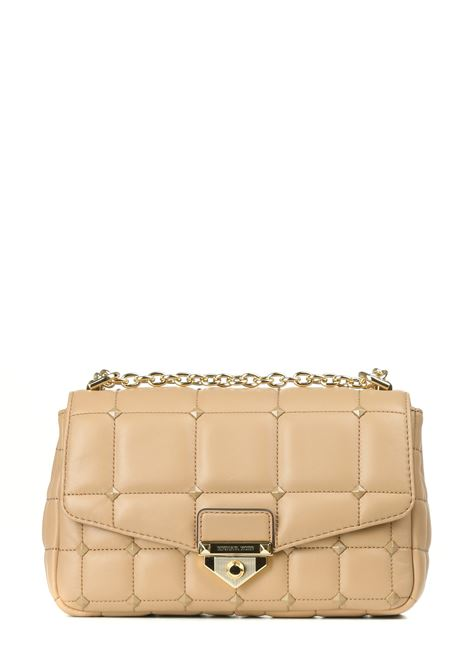 SOHO BAG IN QUILTED LEATHER BEIGE WITH STUDS MICHAEL DI MICHAEL KORS |  | 30T1L1SL3L222CAMEL