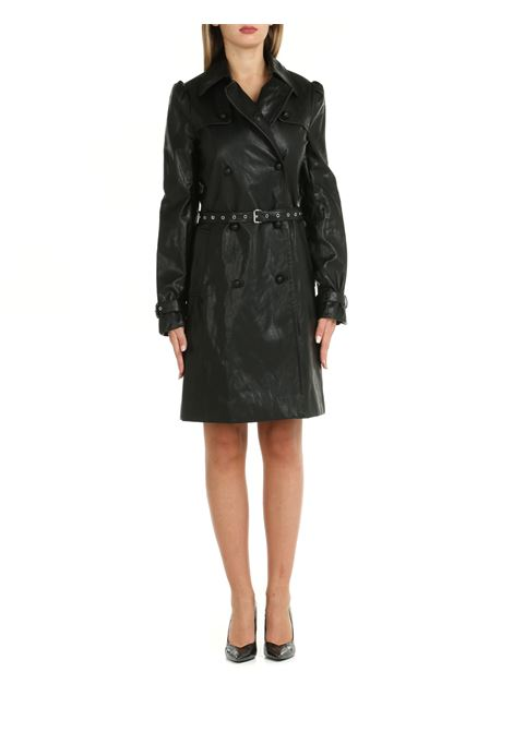 DOUBLE-BREASTED TRENCH IN LEATHER MICHAEL DI MICHAEL KORS   Coats   MU1201ADTW001BLACK