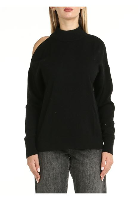 BLACK HIGH NECK SWEATER MICHAEL DI MICHAEL KORS | Shirts | MU1604KCSN001BLACK