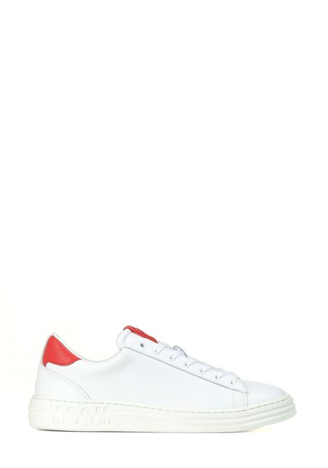 SNEAKERS IN PELLE BIANCHE MSGM | Sneakers | 3140MS50128018