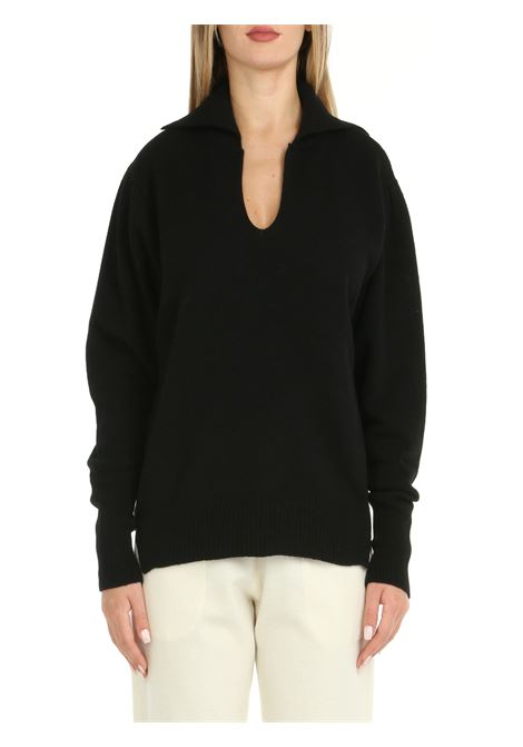 BLACK FAUX CASHMERE SWEATER Nude | Shirts | 110100209
