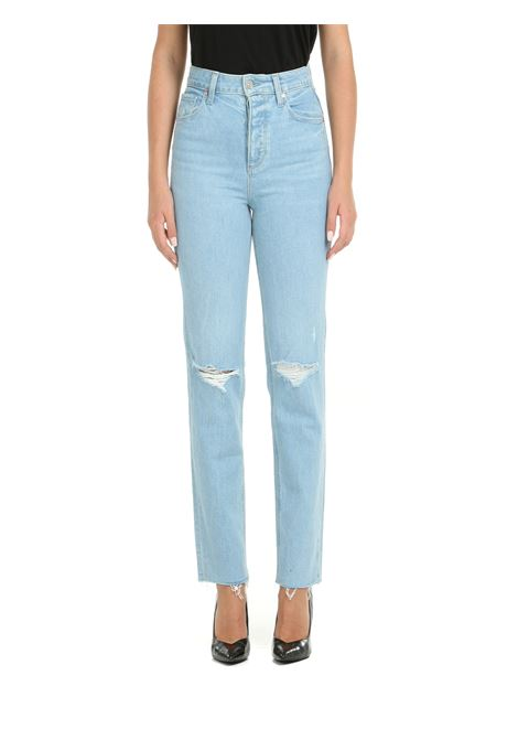JEANS SARAH STRAIGHT ANKLE IN DENIM DI COTONE PAIGE | Jeans | 73006353206CRASH