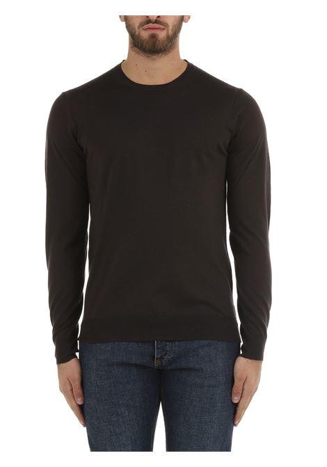 BROWN WOOL SWEATER PAOLO PECORA | Shirts | A001F0012318
