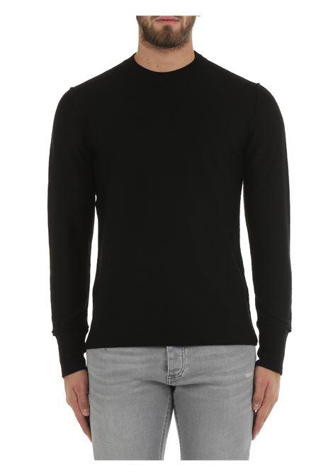 WOOL BLACK SWEATER PAOLO PECORA | Shirts | A03871599000