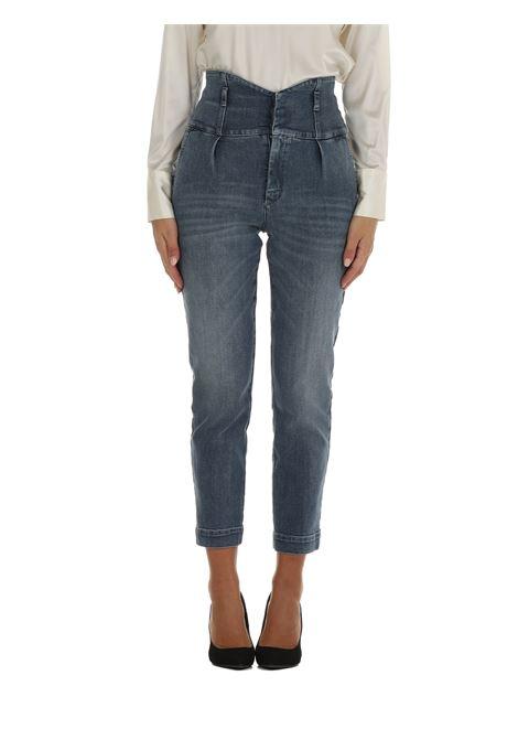 JEANS BUSTIER IN DENIM BLUE STRETCH PINKO | Jeans | ARIEL17 1J10QSY78MG14