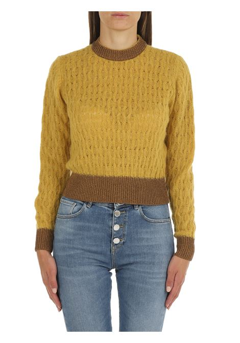SWEATER IN MIXED ALPACA AND MUSTARD MOHAIR PINKO | Shirts | ASCIUTTO1 1G16TUY7EQT63