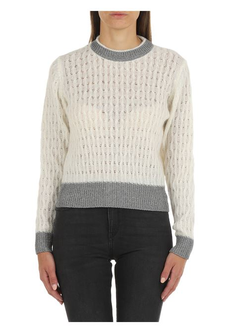 SWEATER IN MIXED ALPACA AND WHITE MOHAIR PINKO | Shirts | ASCIUTTO1 1G16TUY7EQZ06