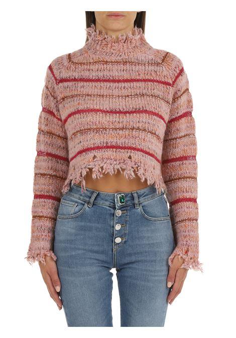 PINK STRIPED CROP SWEATER PINKO | Shirts | AVANA 1G16TQY7F7NR1