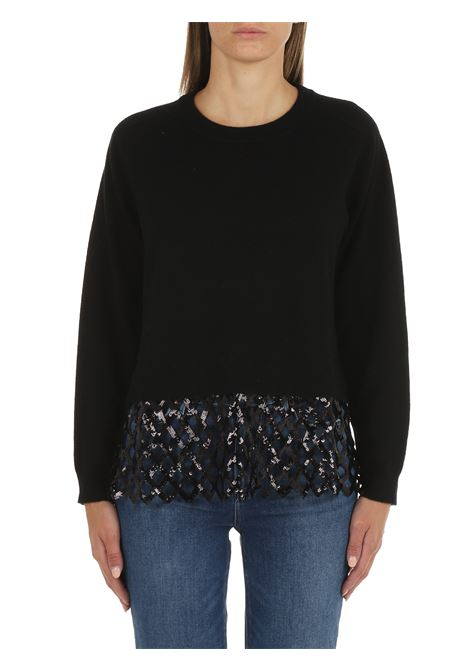 PULLOVER WITH SEQUIN MESH PINKO | Shirts | COROLLE 1G1685Y779Z99
