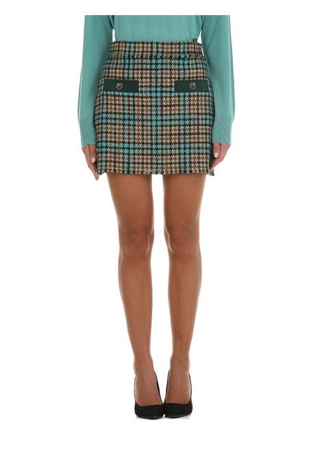 MINI SKIRT BOUCLE 'CHECK PINKO | Skirts | GOLMUD1 1G16UW8572CS4