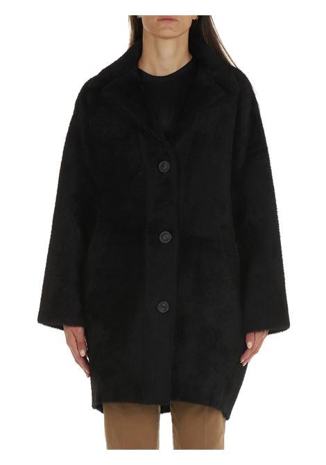 BLACK KERNER COAT PINKO   Coats   KERNER1 1G1675Y778Z99