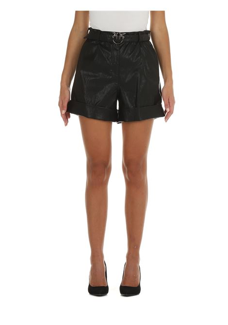 SHORTS IN SIMIL PELLE NERO PINKO | Shorts | LICABETTO 1G16FLY6W7Z99