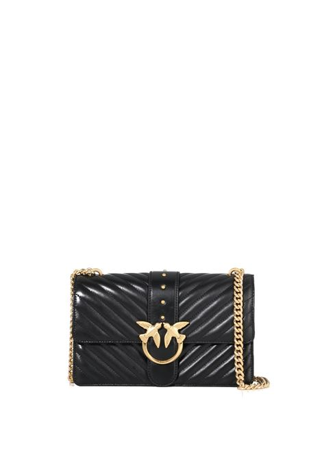 BLACK LOVE CLASSIC ICON V QUILT BAG PINKO | Bags | LOVECLASSICICONVQUILT3CL 1P22BTY7FYZ99