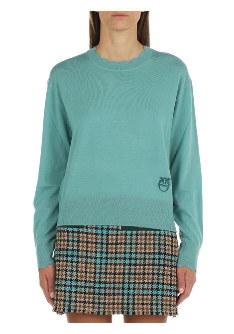 GREEN WOOL SWEATER PINKO | Shirts | MARMILLA 1G16CRY771V08