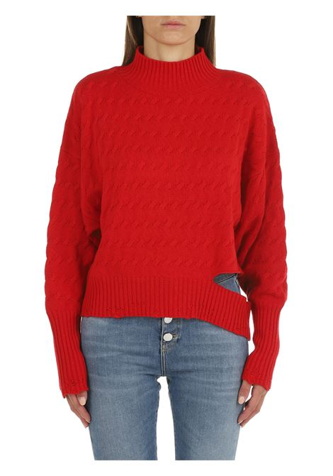 HIGH NECK SWEATER IN RED WOOL AND CASHMERE PINKO | Shirts | NINFEO1 1G16G9Y7DKRA1