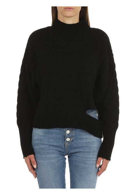 HIGH NECK SWEATER IN BLACK WOOL AND CASHMERE PINKO | Shirts | NINFEO1 1G16G9Y7DKZ99