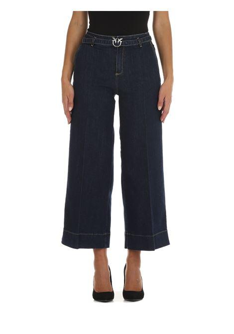 JEANS A PALAZZO IN DENIM DI COTONE PINKO | Jeans | PEGGY8 1J10PPY78MF92