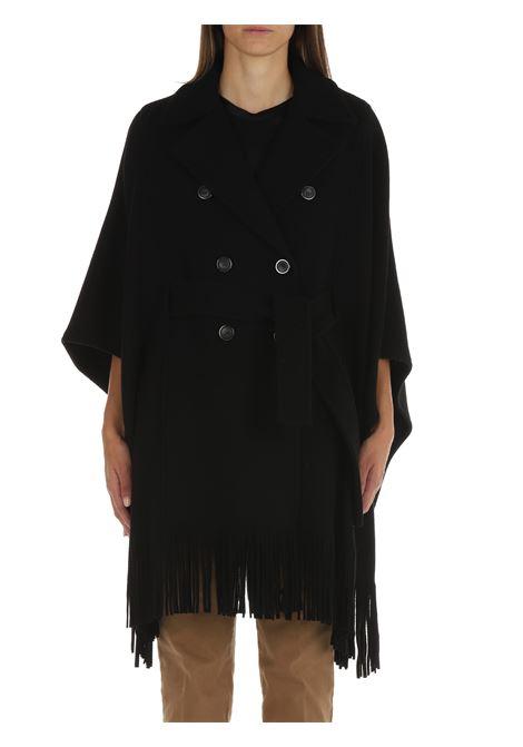 CAPE WITH BLACK FRINGES PINKO   Coats   PUERTA 1G16RYY7DYZ99