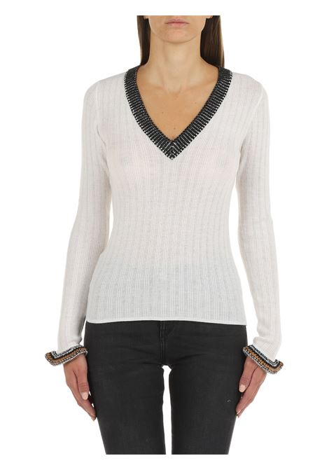 SWEATER IN WHITE WOOL PINKO | Shirts | ZAGARESE 1G1686Y77AZ02