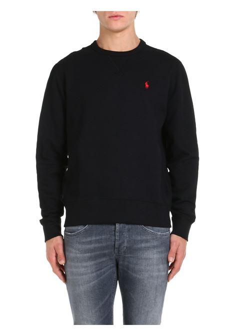 SWEATSHIRT WITH BLACK LOGO EMBROIDERY POLO RALPH LAUREN | Sweatshirt | 710766772001