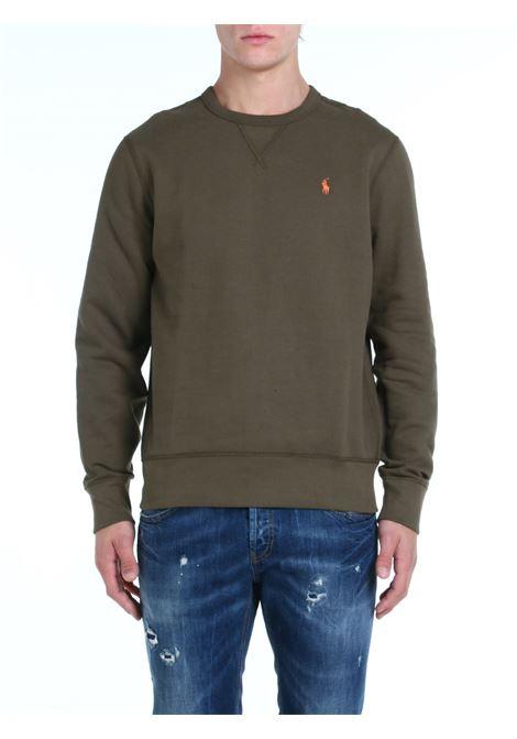 SWEATSHIRT WITH MILITARY GREEN LOGO EMBROIDERY POLO RALPH LAUREN | Sweatshirt | 710766772024