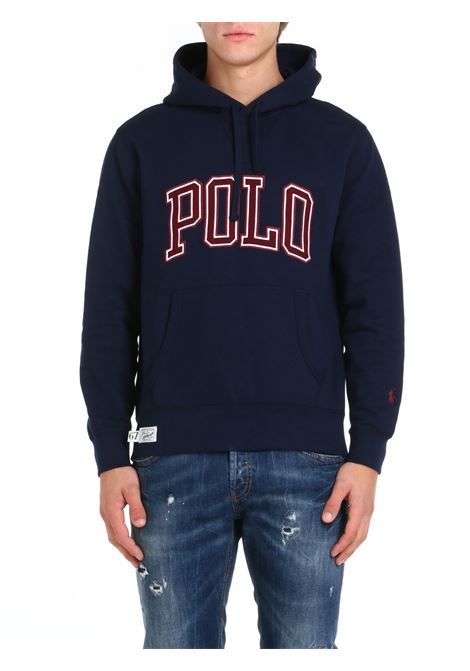 BLUE SWEATSHIRT WITH HOOD POLO RALPH LAUREN | Sweatshirt | 710823897004