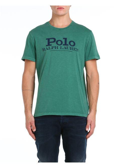 T-SHIRT IN COTONE VERDE POLO RALPH LAUREN   T-shirt   710850540003