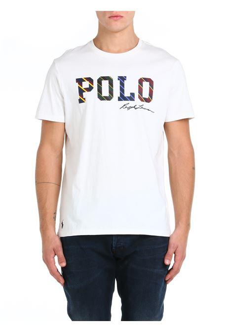 T-SHIRT IN COTONE BIANCA POLO RALPH LAUREN   T-shirt   710853265005