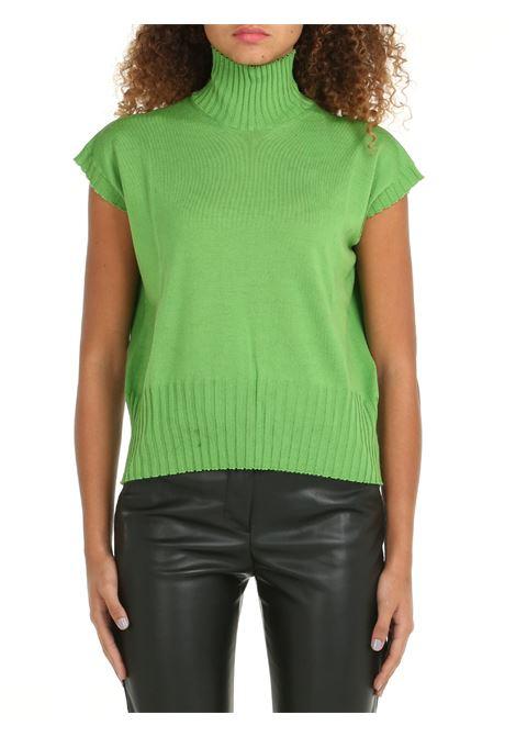 HIGH NECK SWEATER IN GREEN MERINO WOOL ROBERTO COLLINA | Shirts | F08245F0823