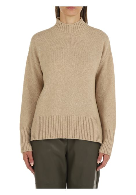 HIGH NECK SWEATER IN MERINO WOOL AND BEIGE BABY CAMEL ROBERTO COLLINA | Shirts | F36083F3603