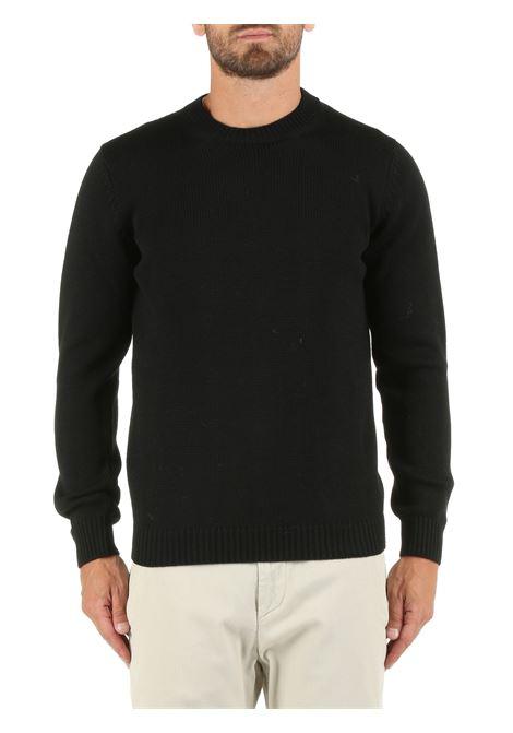 WOOL BLACK SWEATER ROBERTO COLLINA | Shirts | RF02001RF0209
