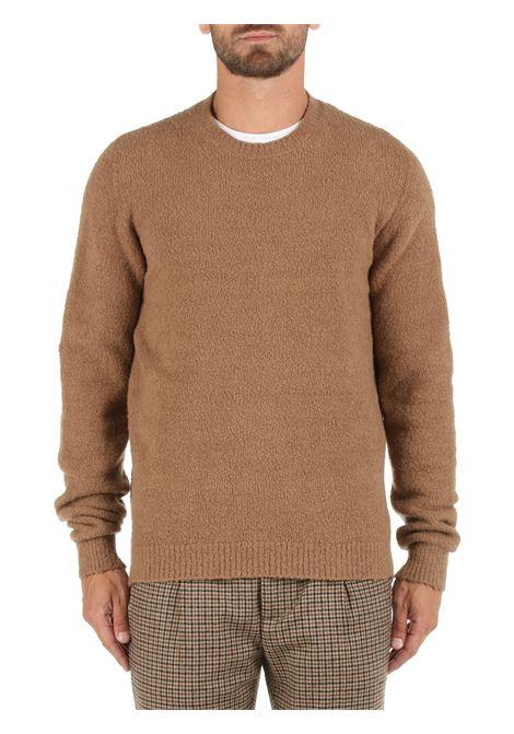 CAMEL COTTON BLEND SWEATER ROBERTO COLLINA | Shirts | RF45001RF4505