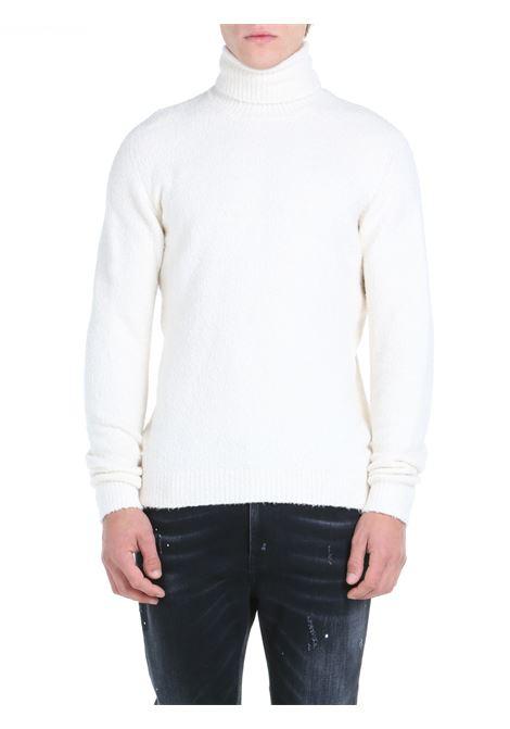 HIGH NECK SWEATER IN CREAM COTTON BLEND ROBERTO COLLINA | Shirts | RF45003RF4502