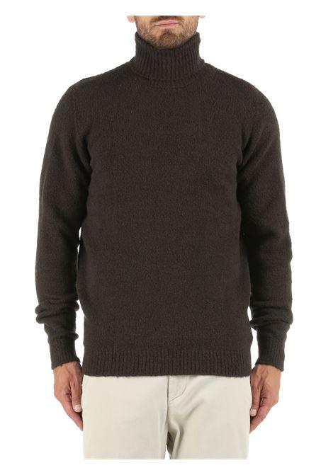 HIGH NECK SWEATER IN GREY COTTON BLEND ROBERTO COLLINA | Shirts | RF45003RF4508