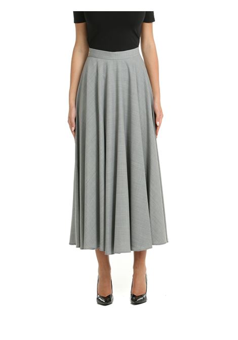 LONG SKIRT IN MIXED GRAY WOOL SOLOTRE | Skirts | M11270GRIGIO