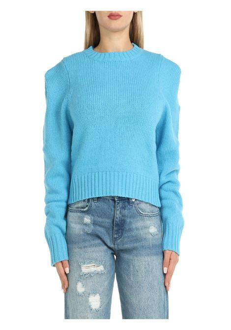 SWEATER IN LIGHT BLUE WOOL weili zheng | Shirts | WWZKC77L03