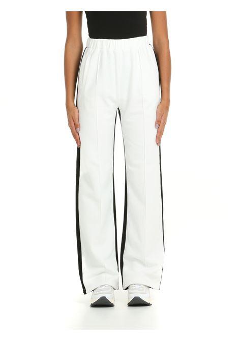 SWEATPANTS IN WHITE / BLACK COTTON weili zheng | Trousers | WWZPL169NW2
