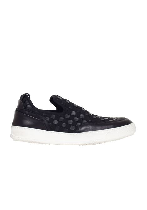 SLIP ON IN PELLE E TESSUTO BB BRUNO BORDESE | Sneakers | A633SS16NERO