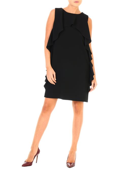 Moschino abito nero con ruches BOUTIQUE MOSCHINO | Dress | 04415824A0555