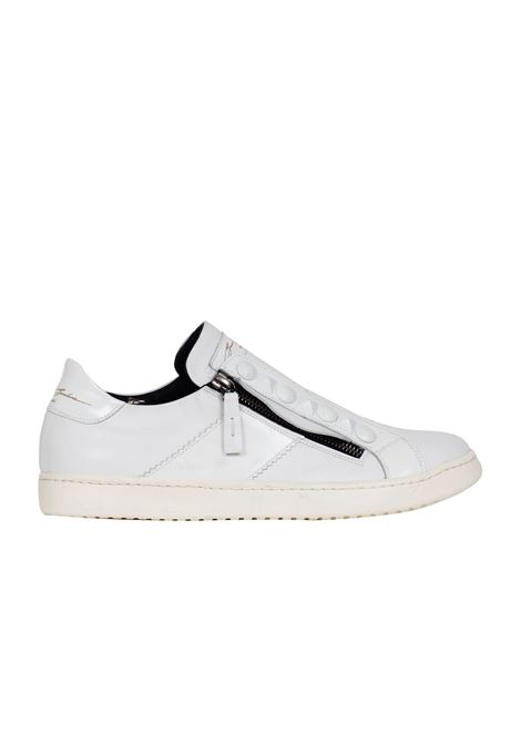 SNEAKERS IN VITELLO SPAZZOLATO Bruno bordese | Sneakers | C591BIANCO
