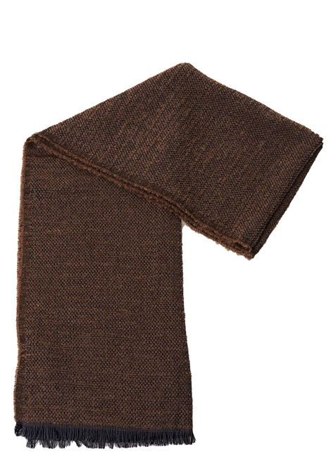 BROWN WOOL SCARF WITH FRINGES ELEVENTY | Scarfs | 979SC0022SCI2200604