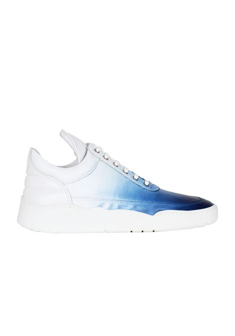 SNEAKERS IN PELLE FILLING PIECES | Sneakers | 101002810760BIANCO/BLU