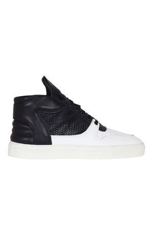 SNEAKERS IN PELLE FILLING PIECES | Sneakers | 104007410690BIANCO/NERO